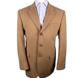 Ralph Lauren Camel Hair Blazer Jacket Tan Mens 42L